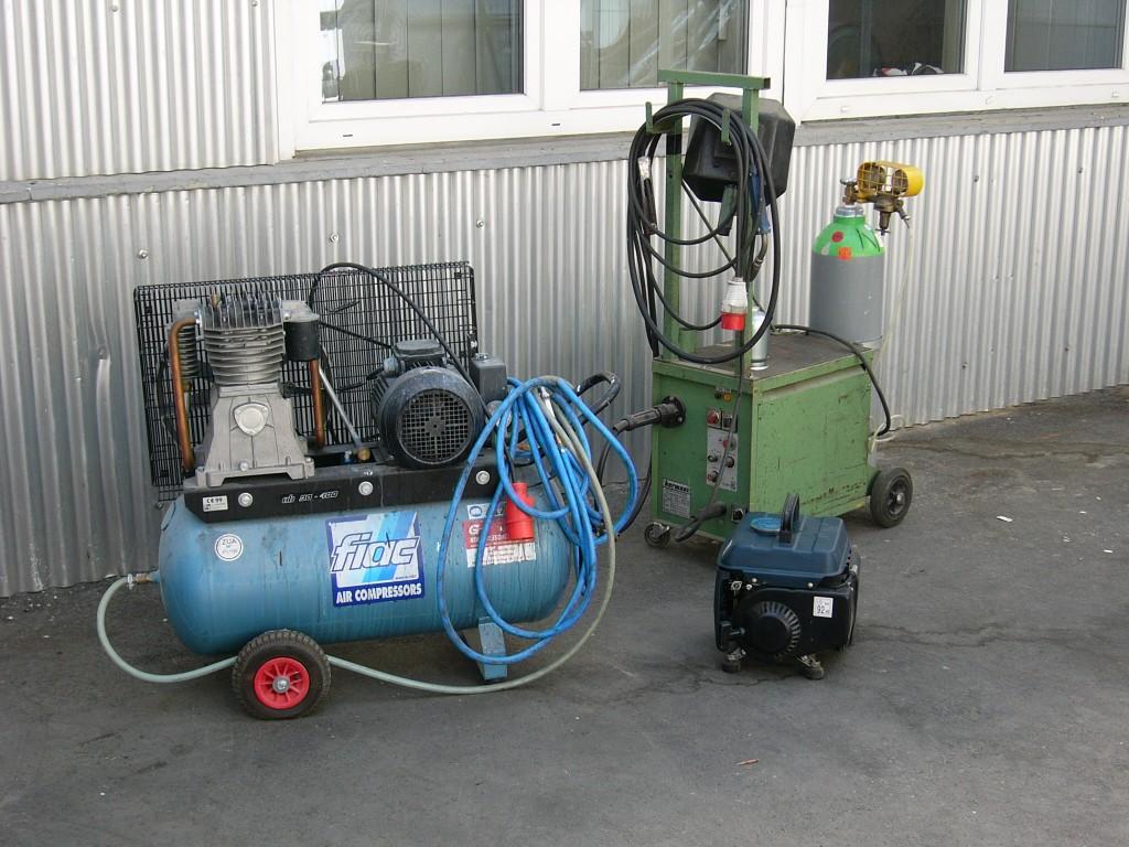 Kompressoren und Schweissgeräte