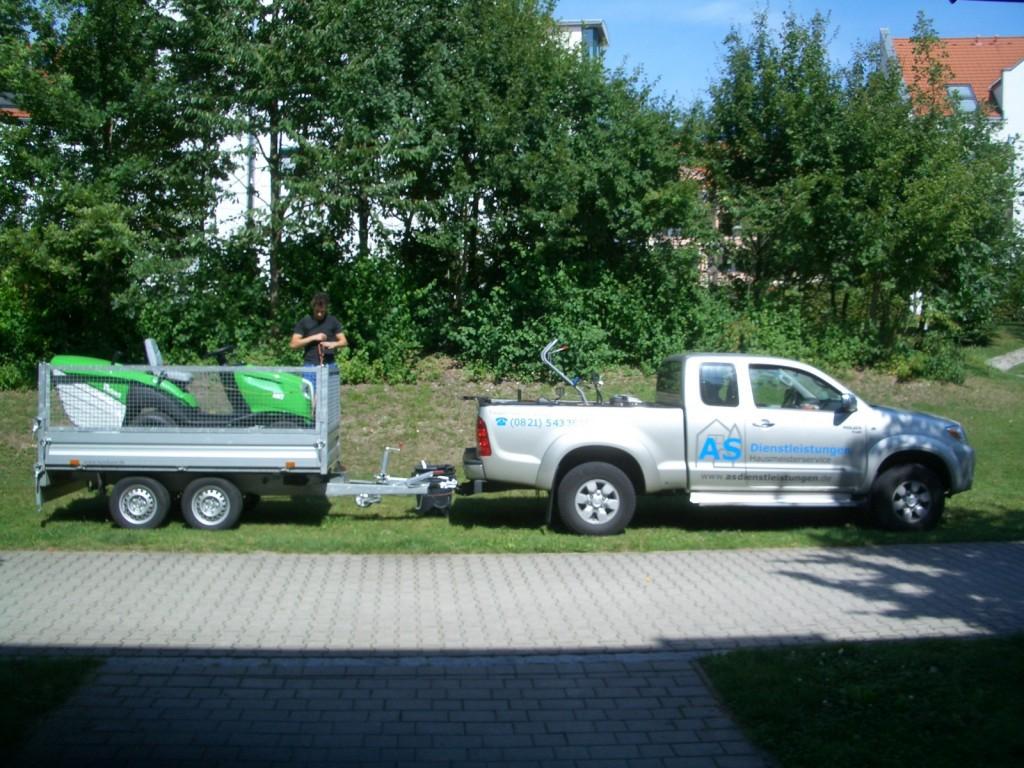 Rasenmähtraktor - Transport