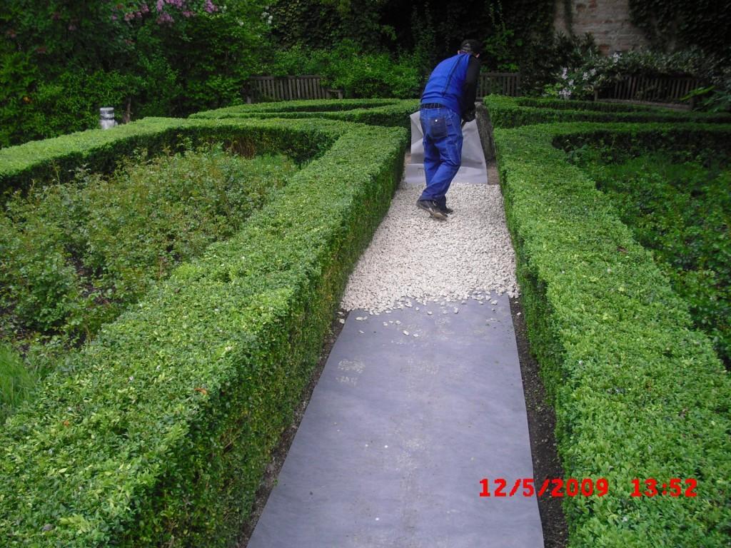 Gartengestaltung - Unkrautstopfließ